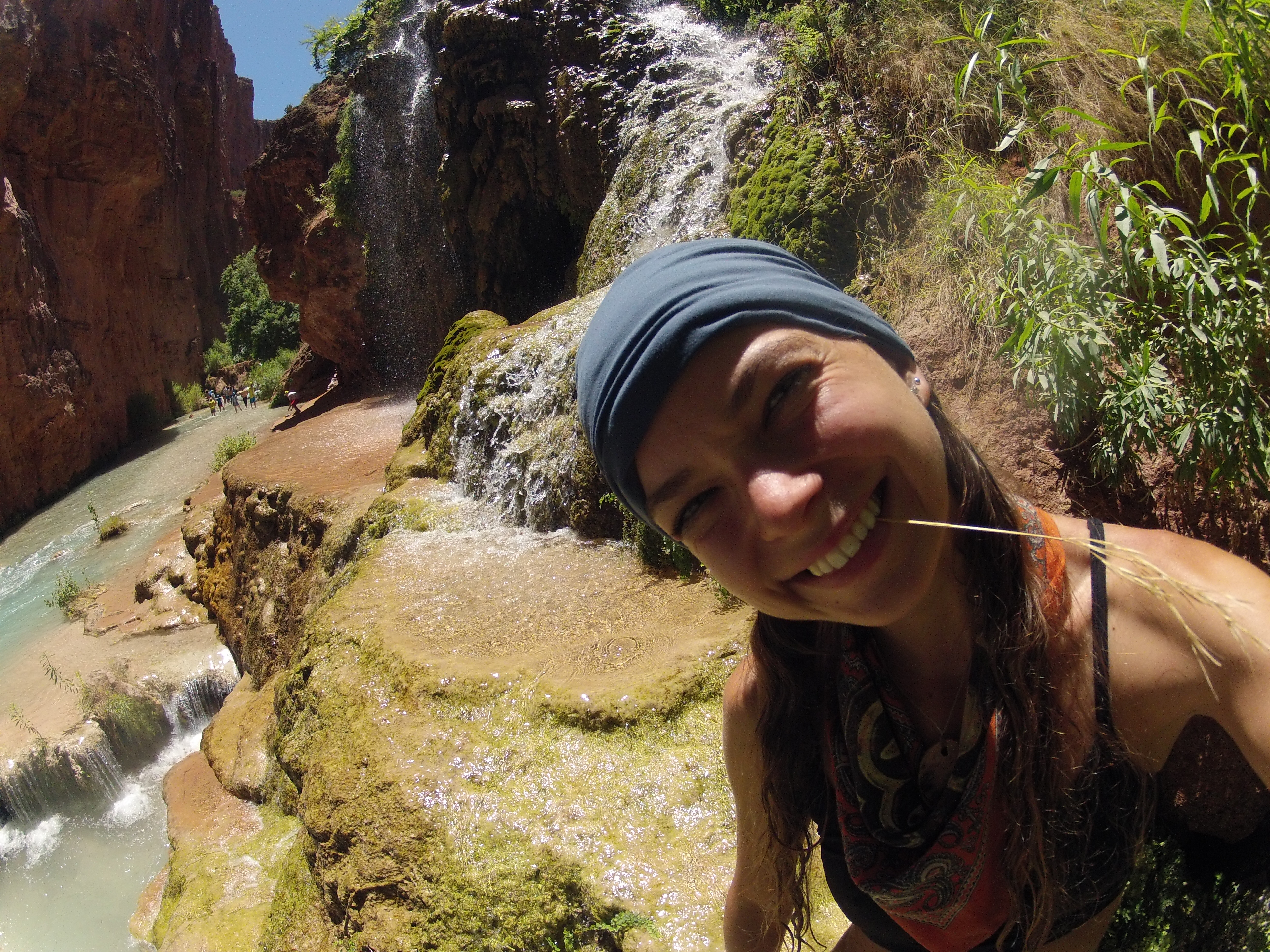 One of the first shots from my GoPro - taken during a hike down a waterfall near Mooney Falls in Arizona.