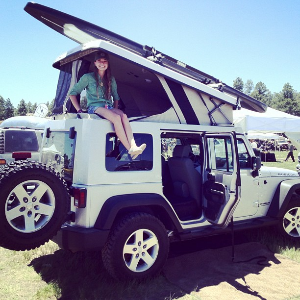 Hanging out with one of Ursa Minor's Ecamper creations during Overland Expo.