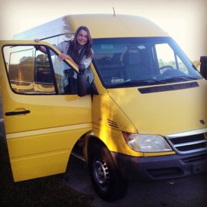 My big, beautiful, very yellow Sprinter van!
