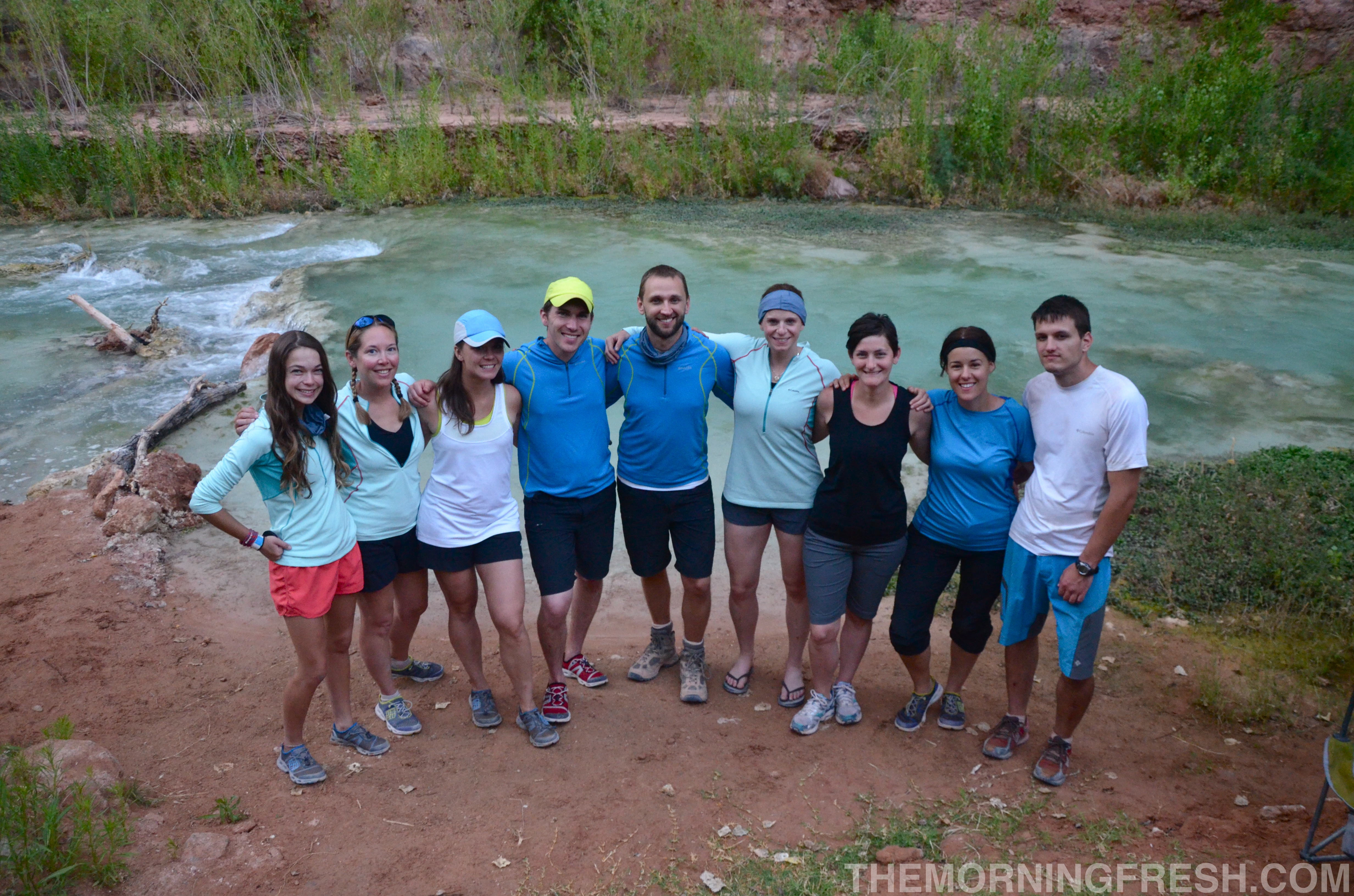 The inaugural Omniten crew from Columbia Sportswear at Havasu Falls.