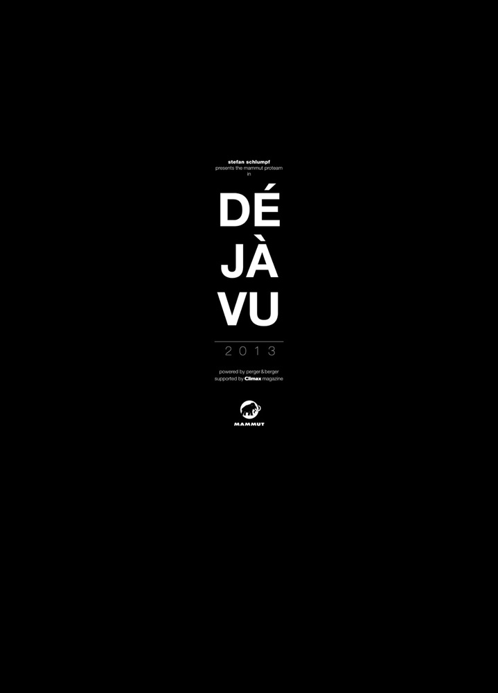 The Déja Vu 2013 calendar cover from Mammut.