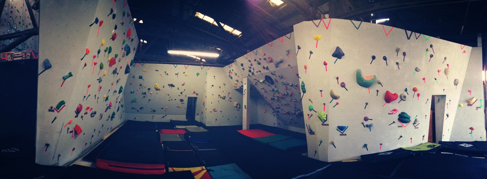 A first look at the new bouldering section at Tallahassee Rock Gym.