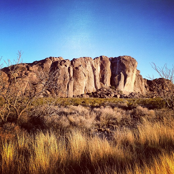 Hueco Tanks State Park, a true mecca for American bouldering.
