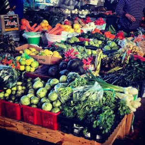Fresh, cheap food is easily found at local farmers markets.