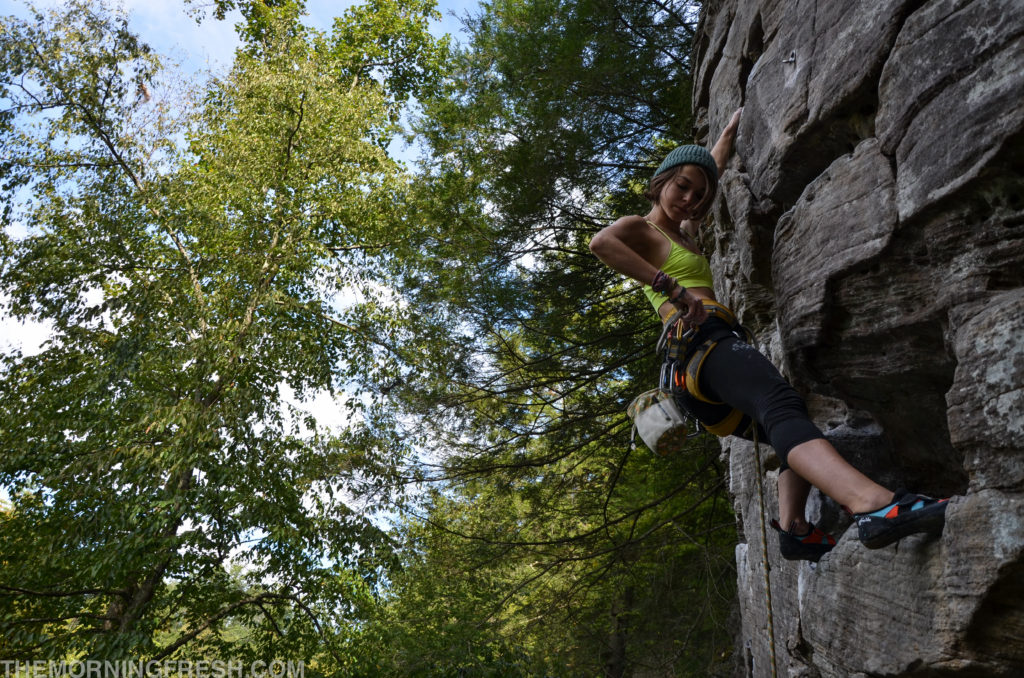 One of my favorite routes of all time, Plate Tectonics in Muir Valley at Red River Gorge.