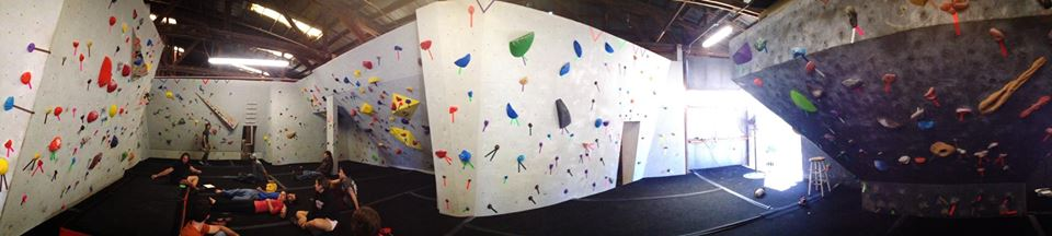 The new bouldering walls at Tallahassee Rock Gym.