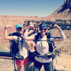 Heidi Henry and I celebrating after making it back to the rim of the Grand Canyon in one piece during our omniten trip to Havasu Falls.