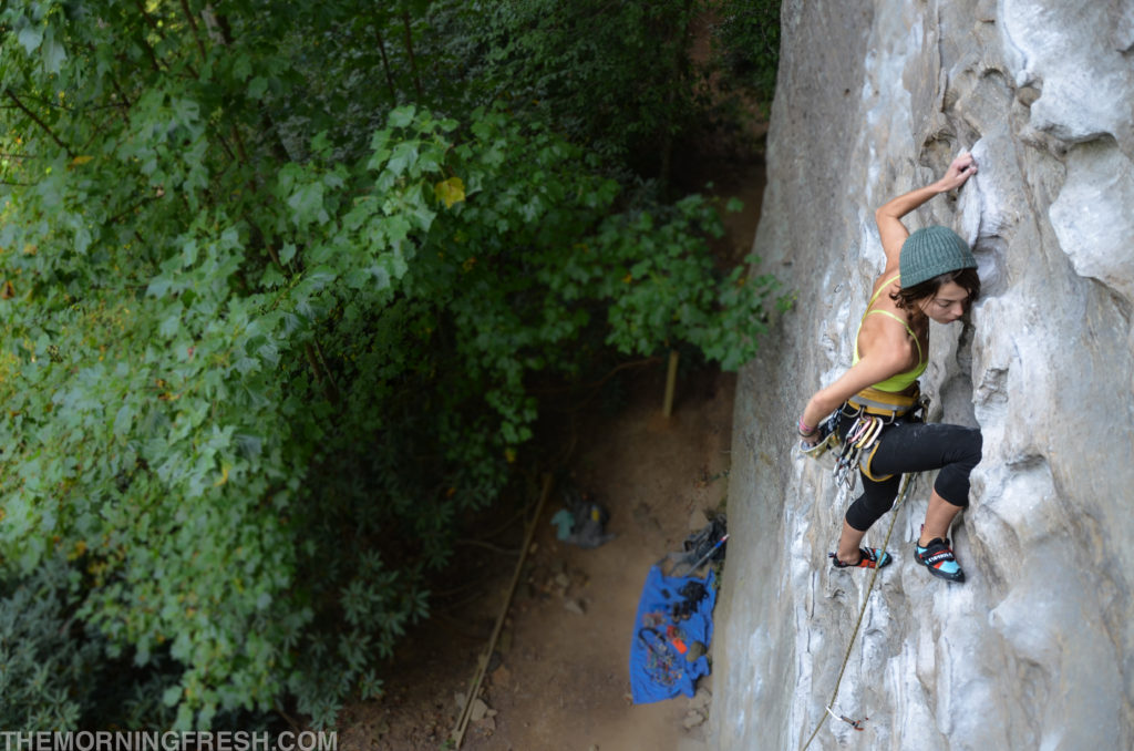 Climbing Plate Tectonics at Muir Valley in Red River Gorge with the Cypher Phelix shoes.