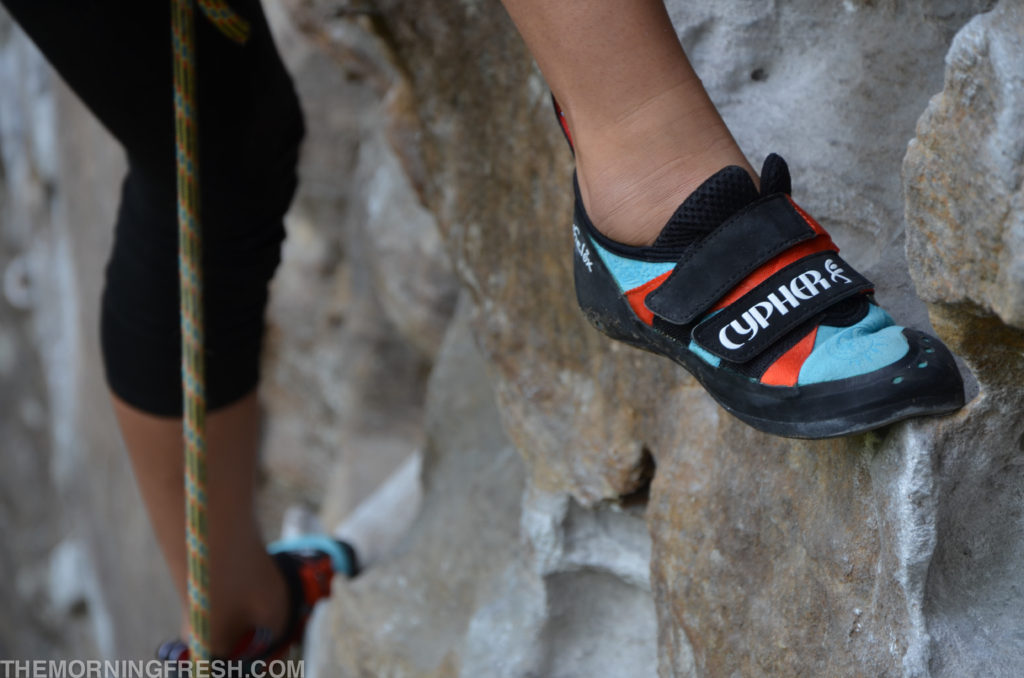 The Cypher Phelix climbing shoe at the Red River Gorge.