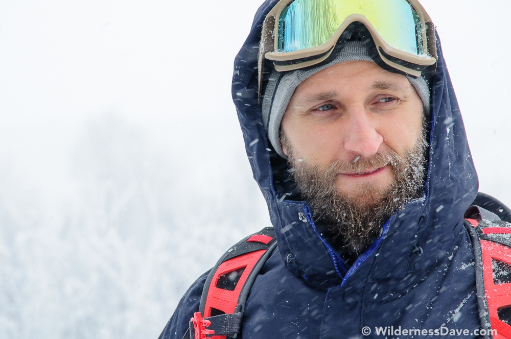 Casey of #TeamBeard looking handsome in the middle of a snowstorm at the Omnigames. (Photo: David Creech)