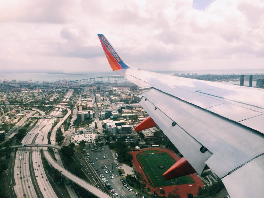 My view of San Diego coming in on my Southwest Airlines flight.