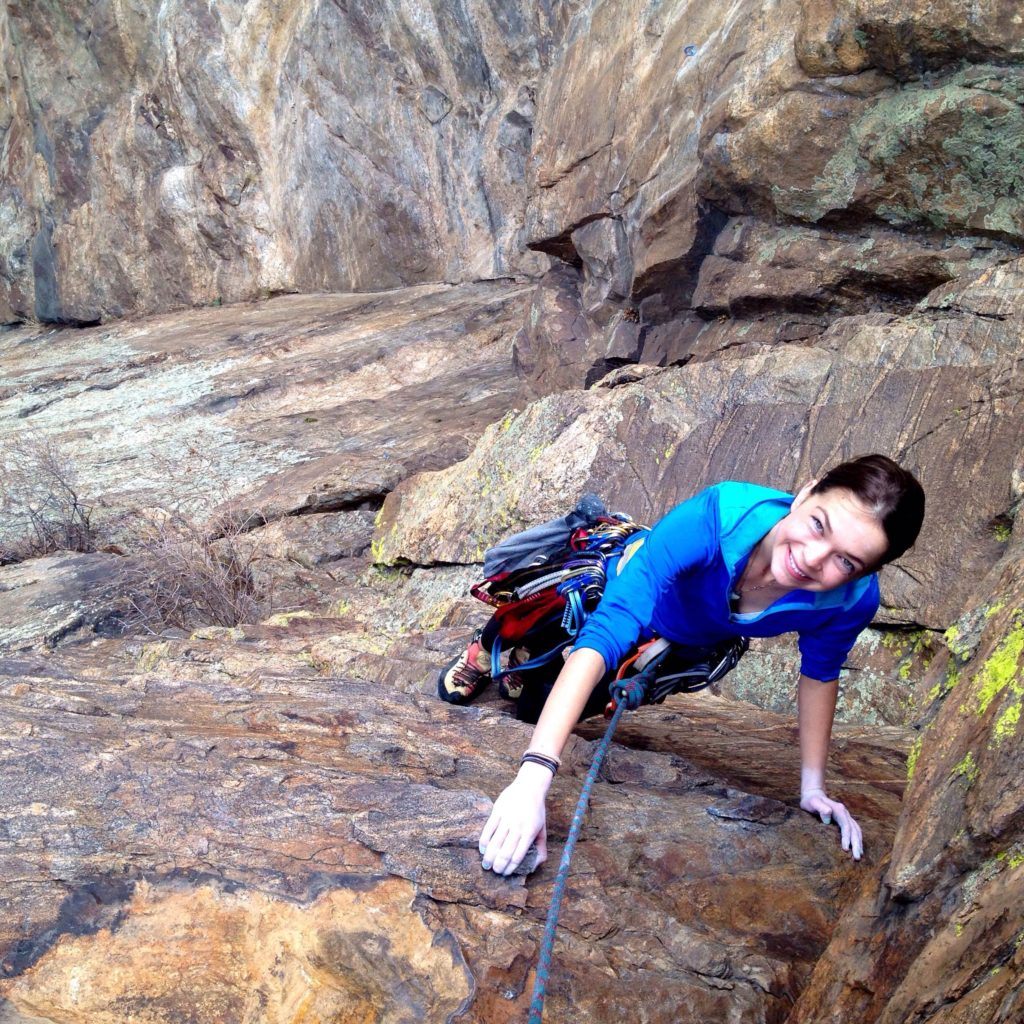 Climbing the four pitch Playing Hooky in Clear Creek Canyon.