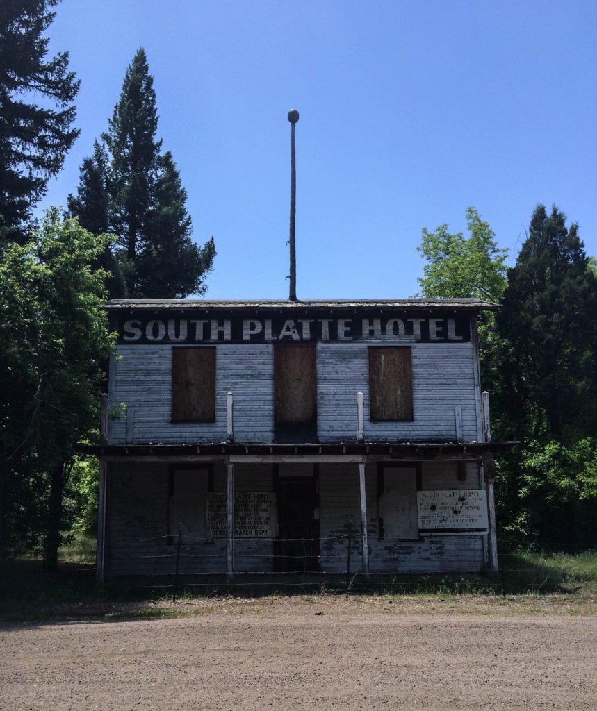 The old South Platte Hotel in the Rampart Range area of Colorado.