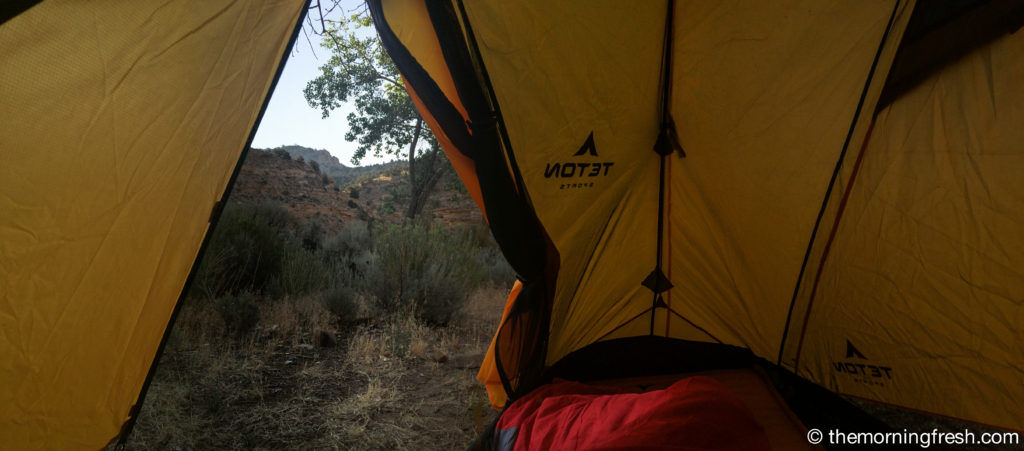 My morning view from my Teton Sports tent.