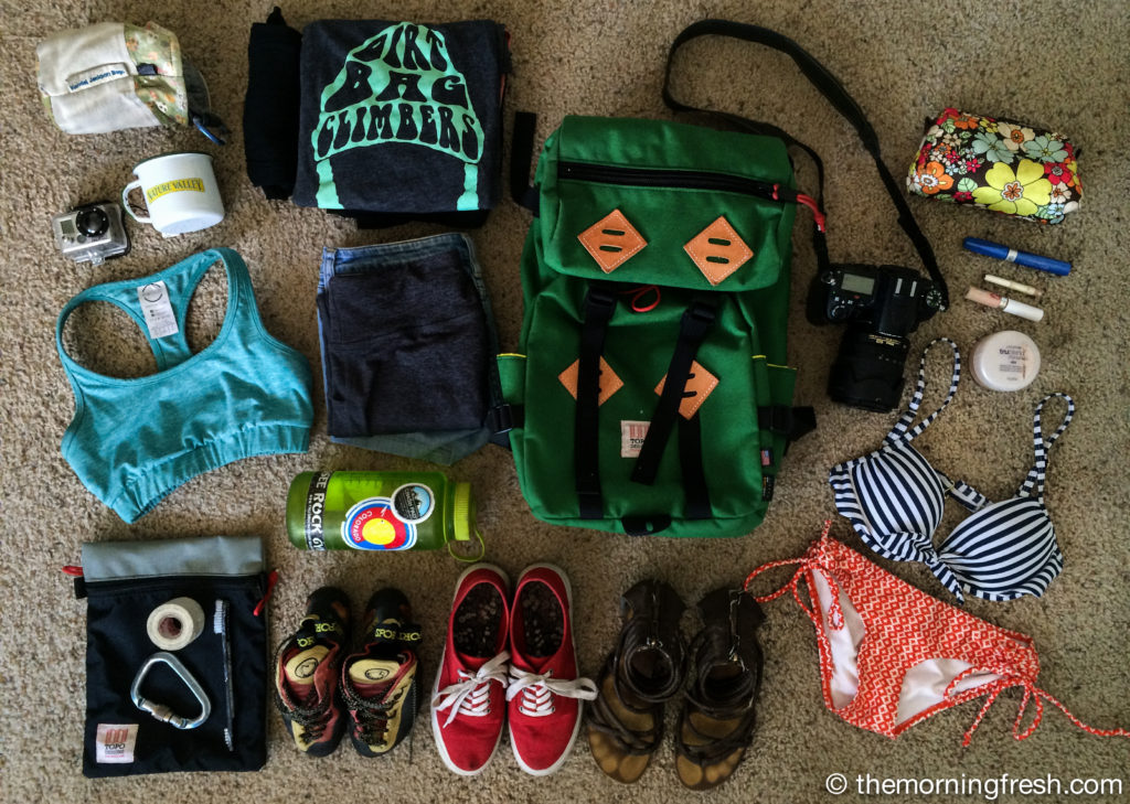 What's in my pack? Miami to Colorado edition. #FLtoCO
