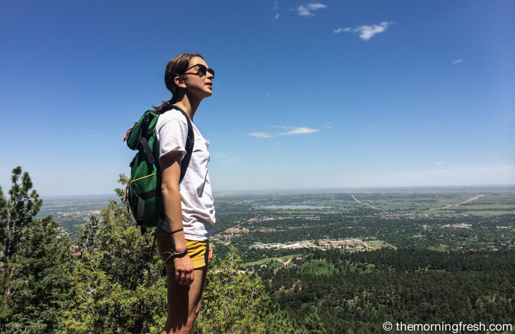A shot from the top of the First Flat Iron in Boulder, CO with my SportRx Sunglasses