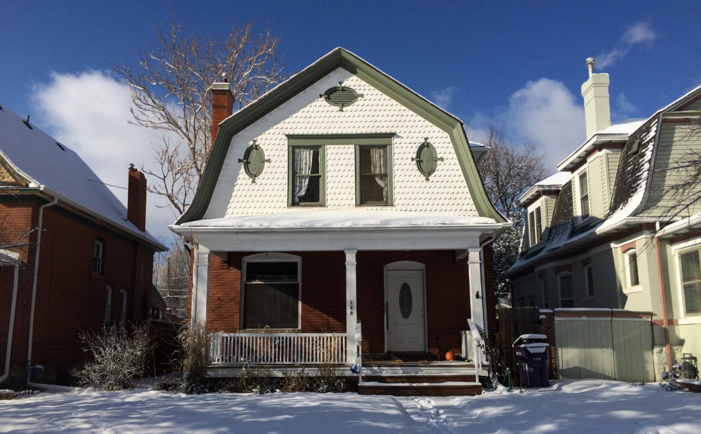 My darling old house on historic South Grant Street in Colorado.