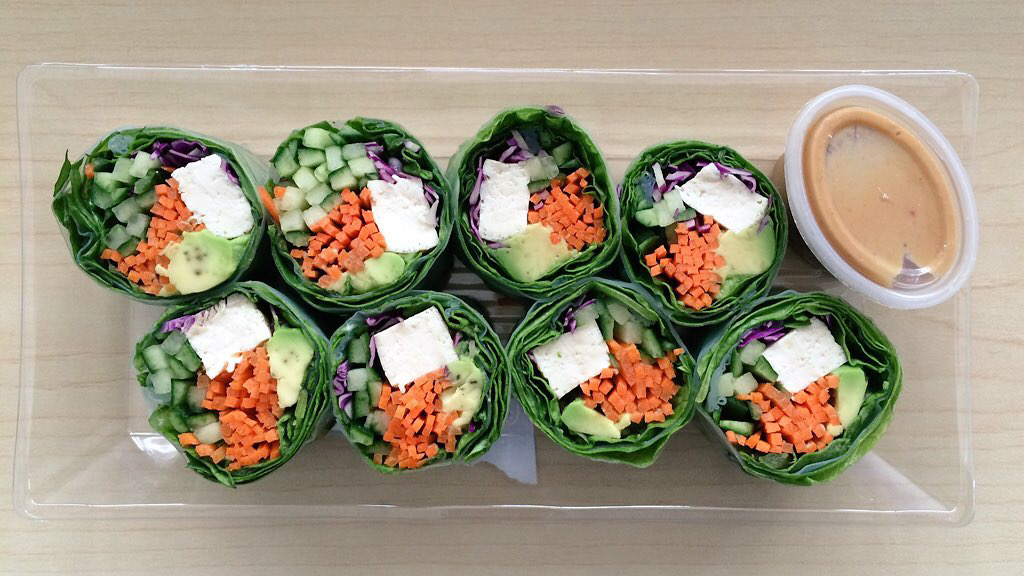 The tofu salad roll from Whole Foods' sushi bar.