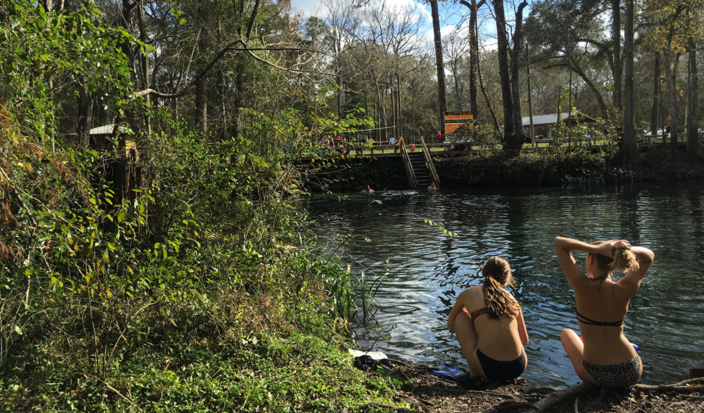 Camping, swimming, and exploring at Ginnie Springs.