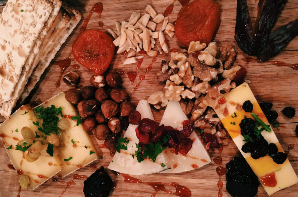 The amazing cheese plate at Wicked Weed Brewery in Asheville, NC.