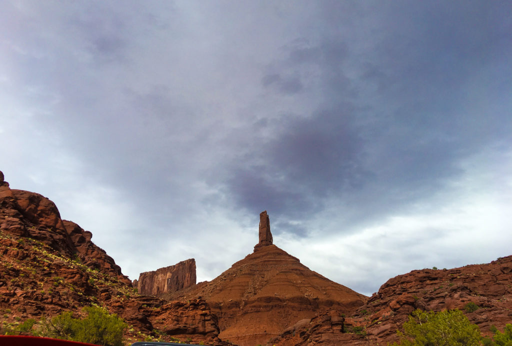View of Castleton Tower in Moab, UT.