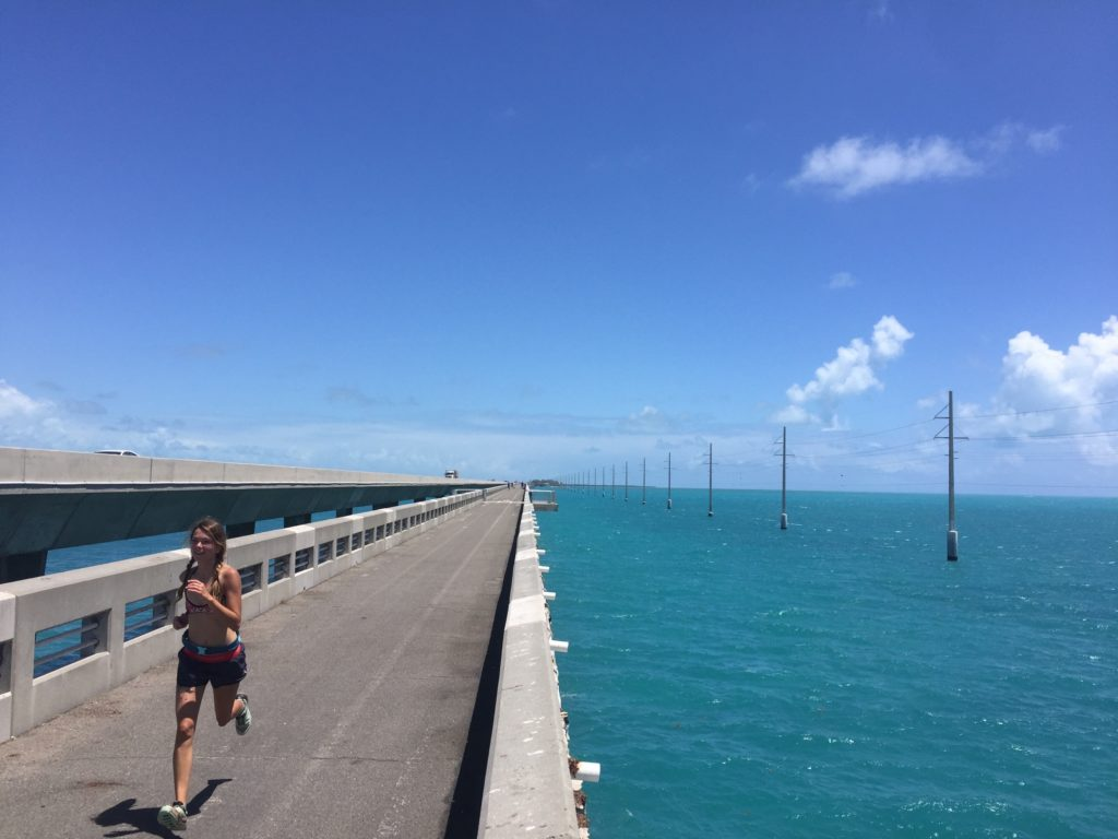 Trail Running on the Overseas Highway Heritage Trail in the Florida Keys.